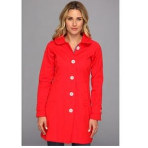 Hatley Red Trench Rain Coat size 8